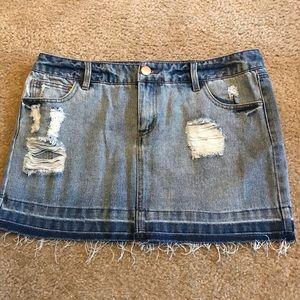 Demin mini skirt